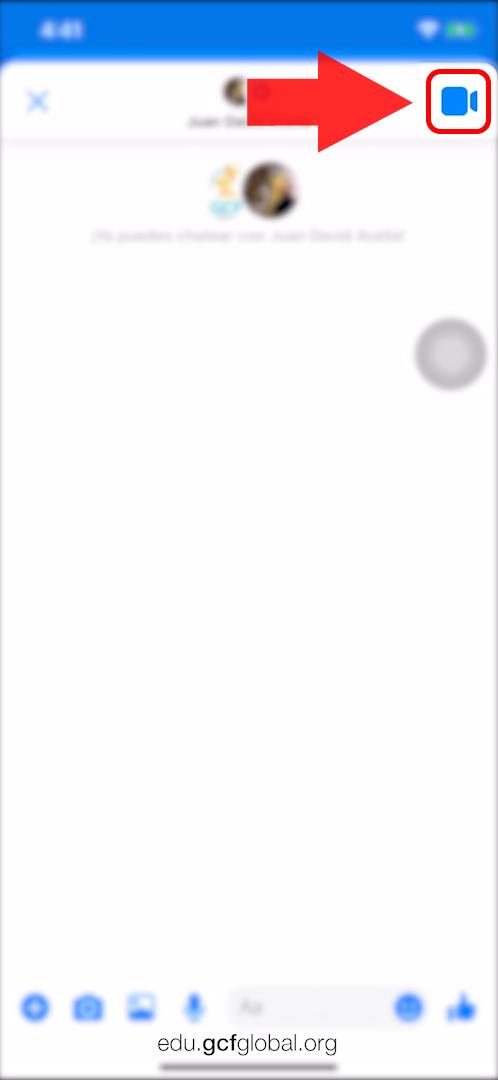 Imagen con la opción para realizar una videollamada.