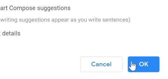 clicking ok