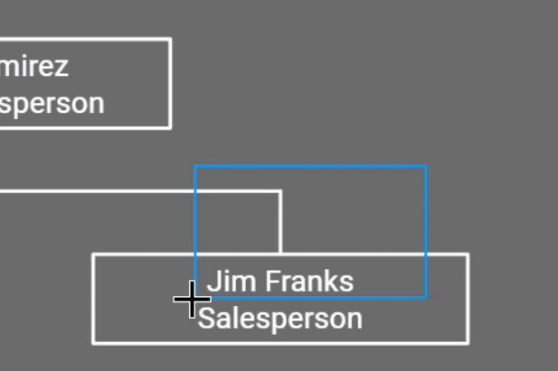 selecting a box and a line