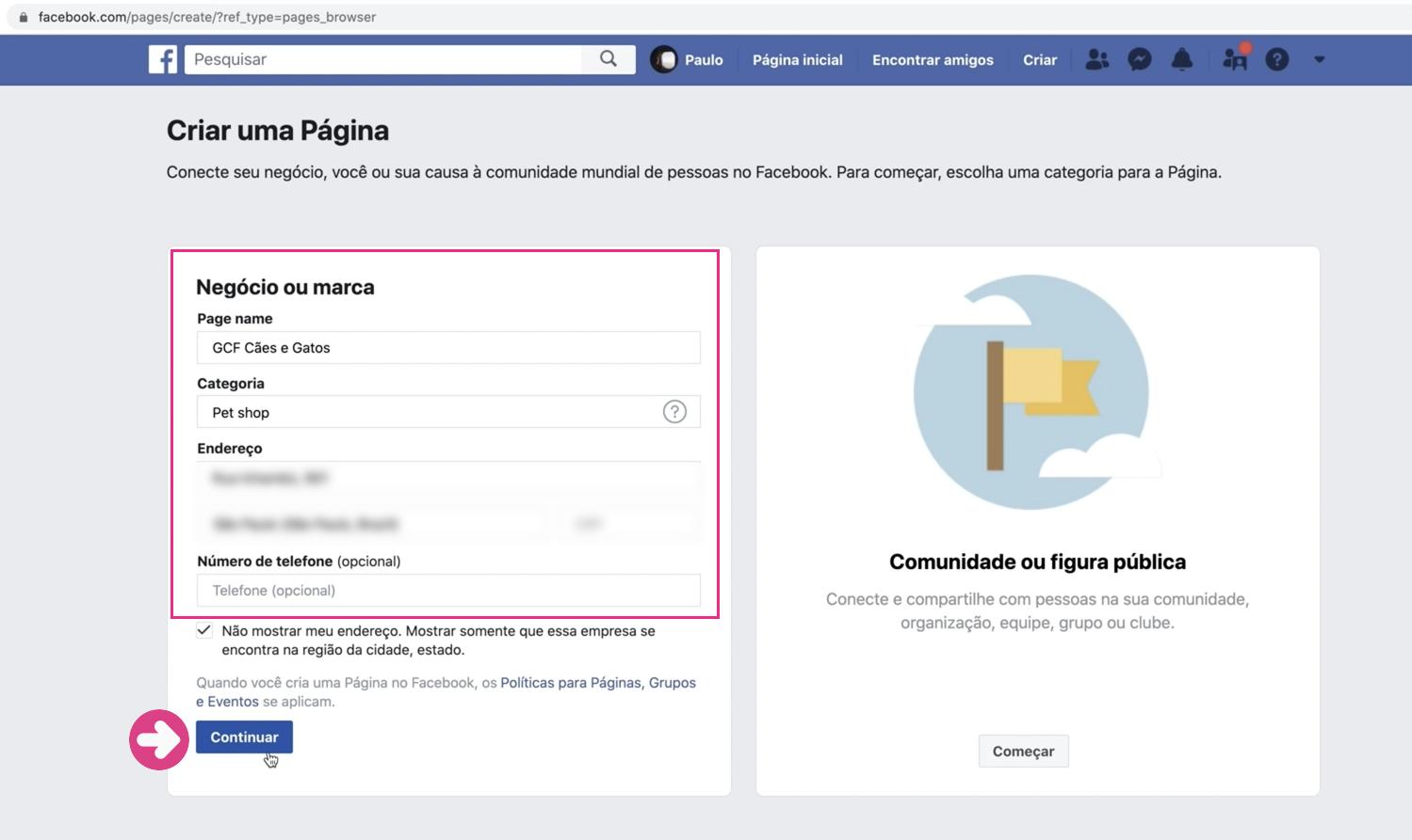 imagem4 como criar sua página empresarial no facebook