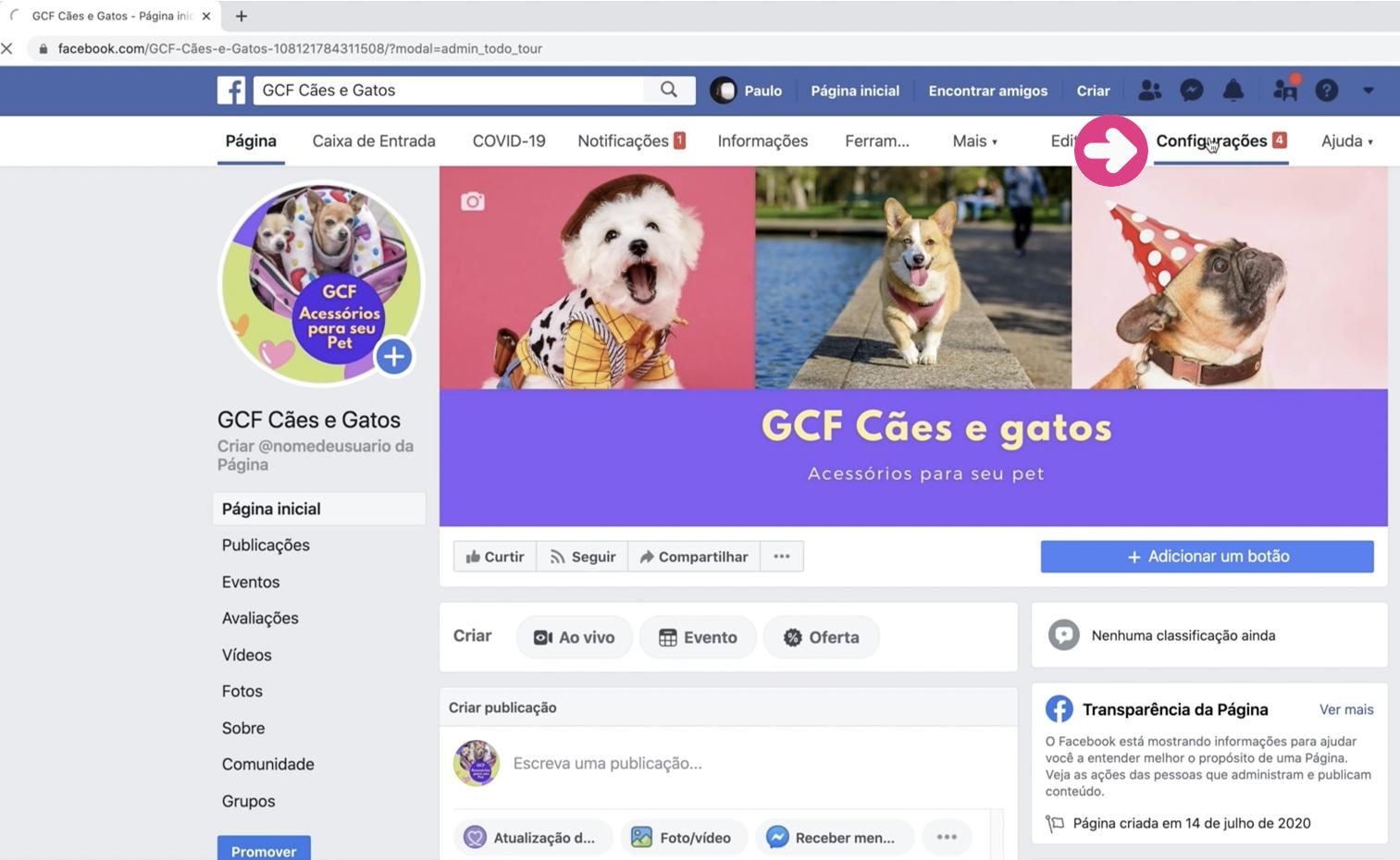 imagem1 como criar loja no facebook