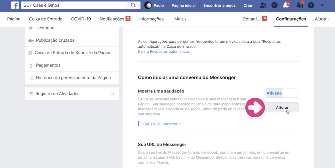imagem2 como configurar respostas automáticas na sua página do Facebook
