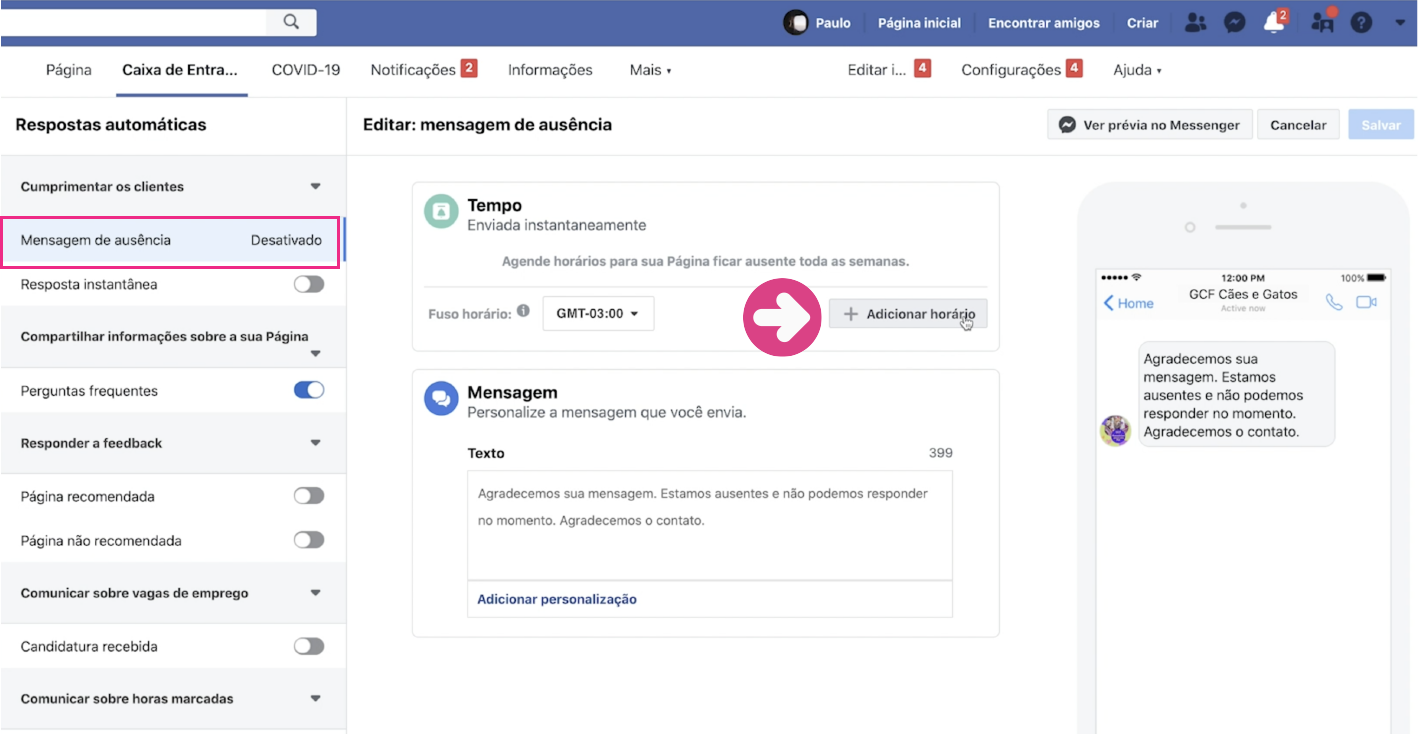 imagem6 como configurar respostas automáticas na sua página do Facebook
