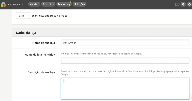 imagem3 configurar dados da sua loja virtual na loja integrada