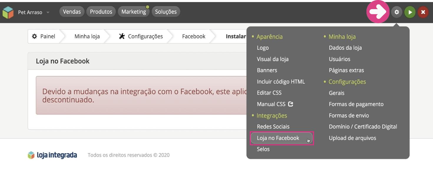imagem3 configurar as redes sociais da sua loja virtual na loja integrada