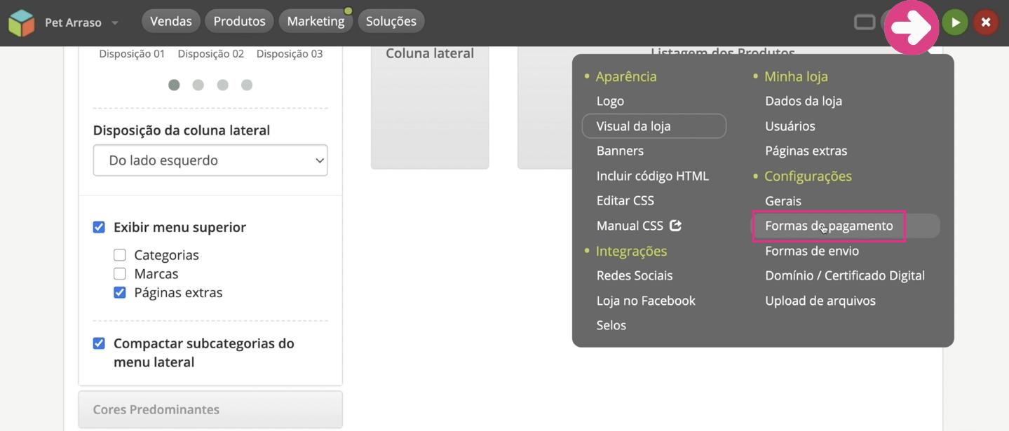 imagem1 configurar formas de pagamento da sua loja virtual na loja integrada