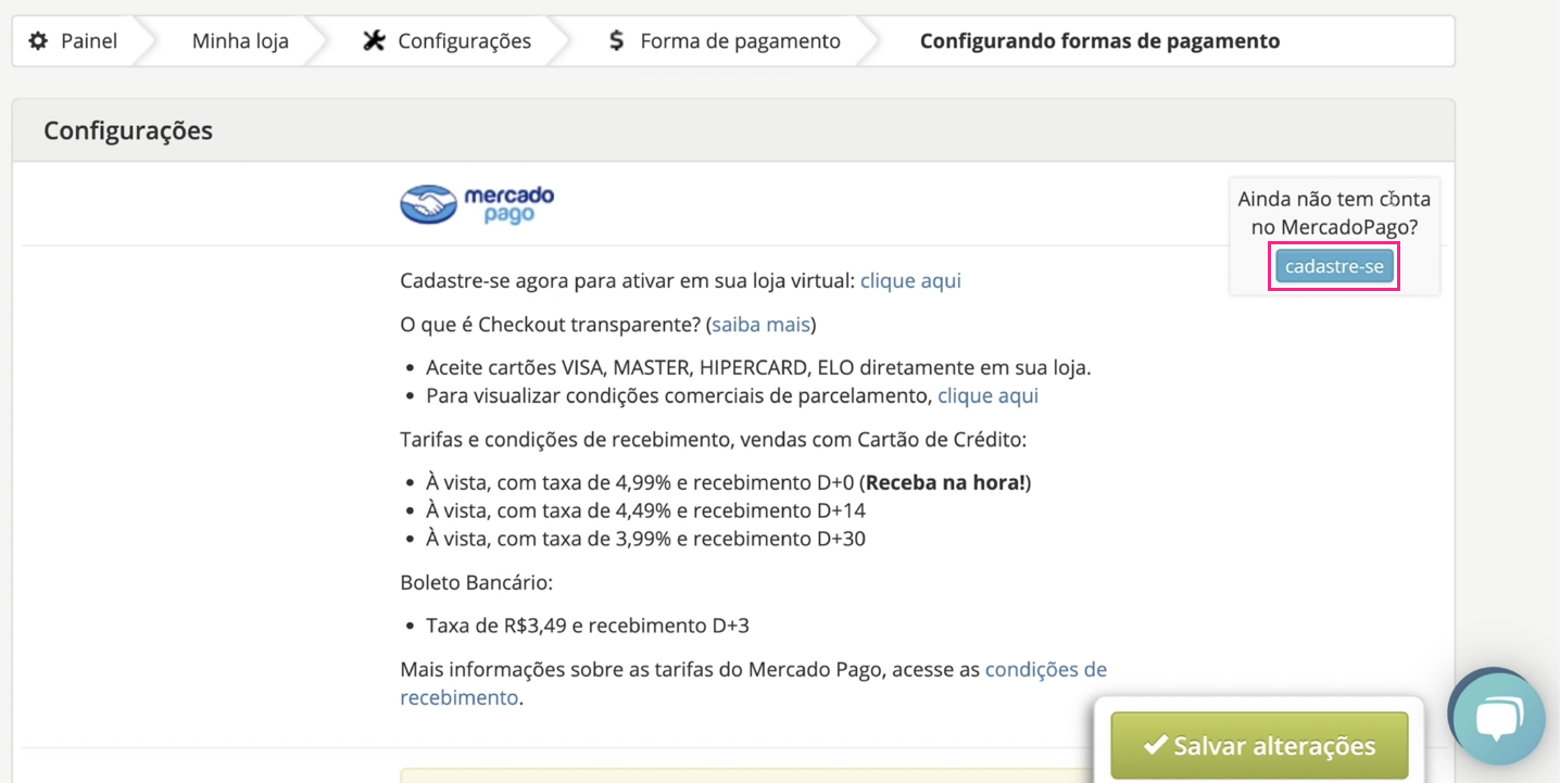 imagem3 configurar formas de pagamento da sua loja virtual na loja integrada