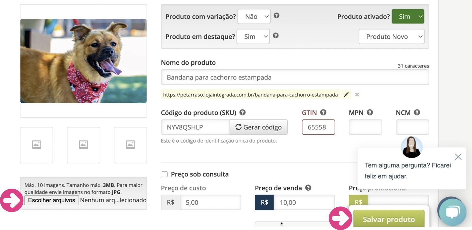 imagem16 como incluir produtos na loja virtual loja integrada