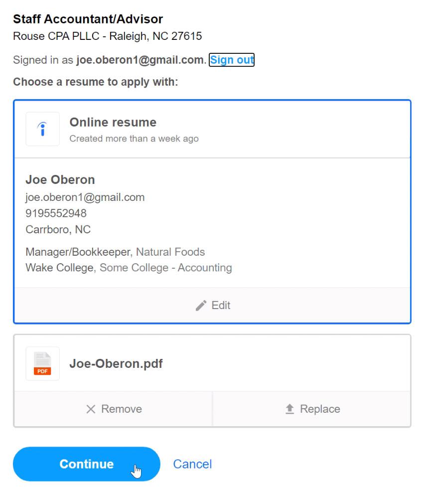 choosing a resume