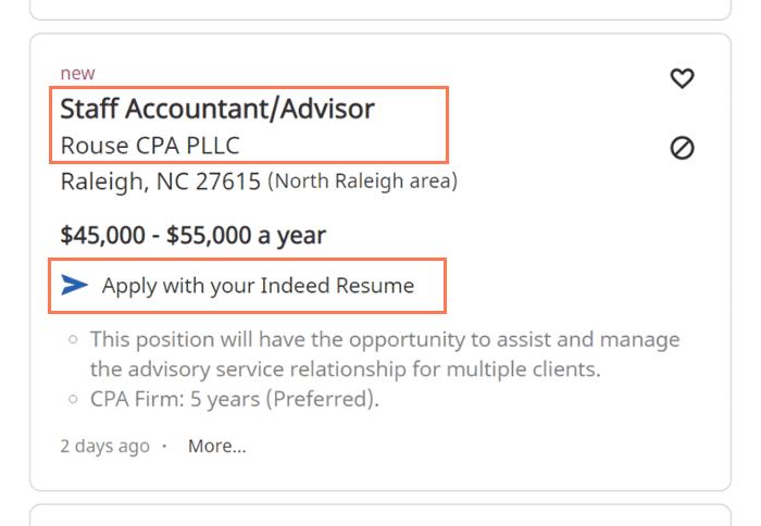 job posting information