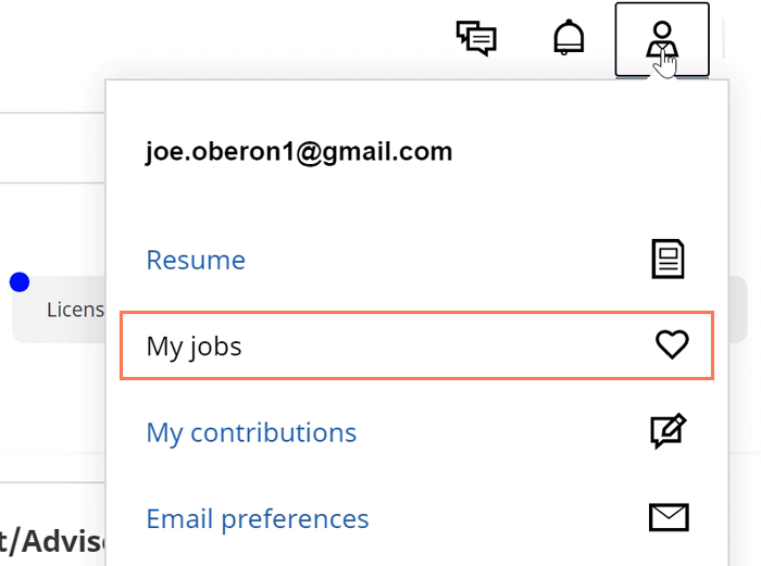 my jobs menu