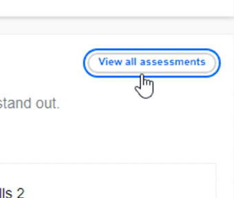 clicking view all assessments button