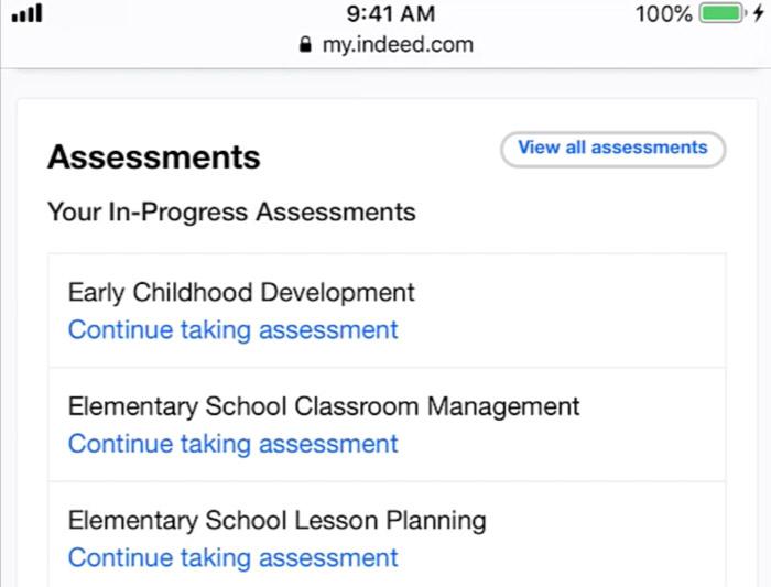 assessment mobile app