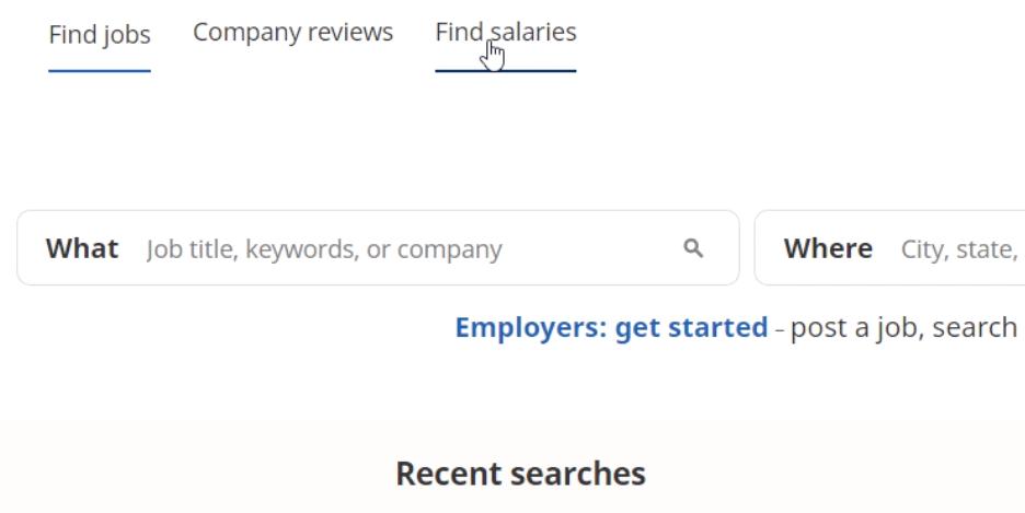 click find salaries