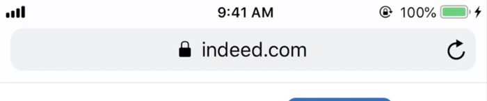 indeed mobile browser