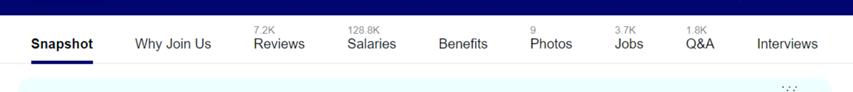 Indeed company reviews toolbar