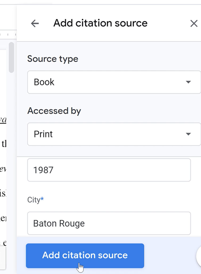 adding citation source