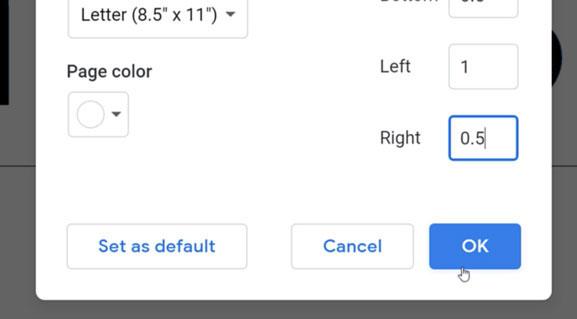 clicking ok button