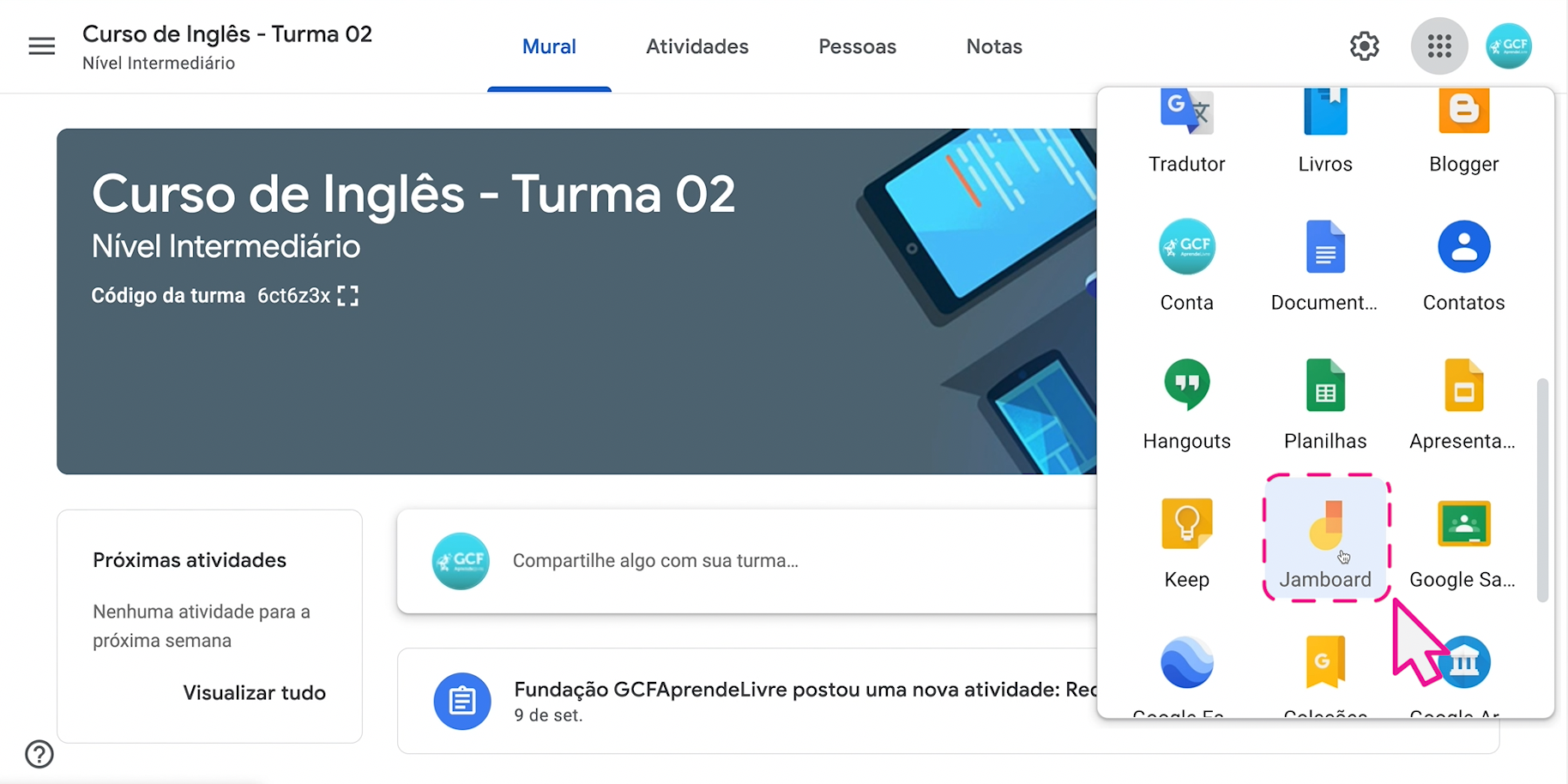 Como usar o Jamboard, o quadro do Google 2