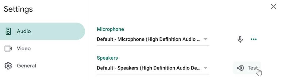 testing speakers