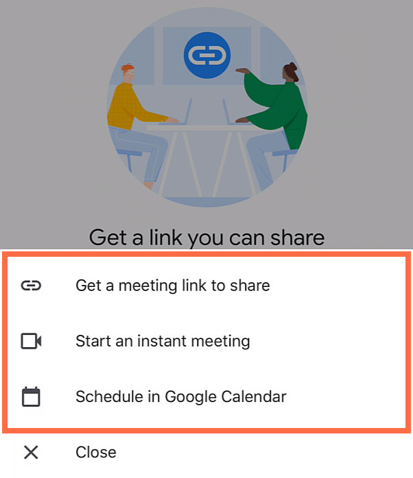 New meeting options
