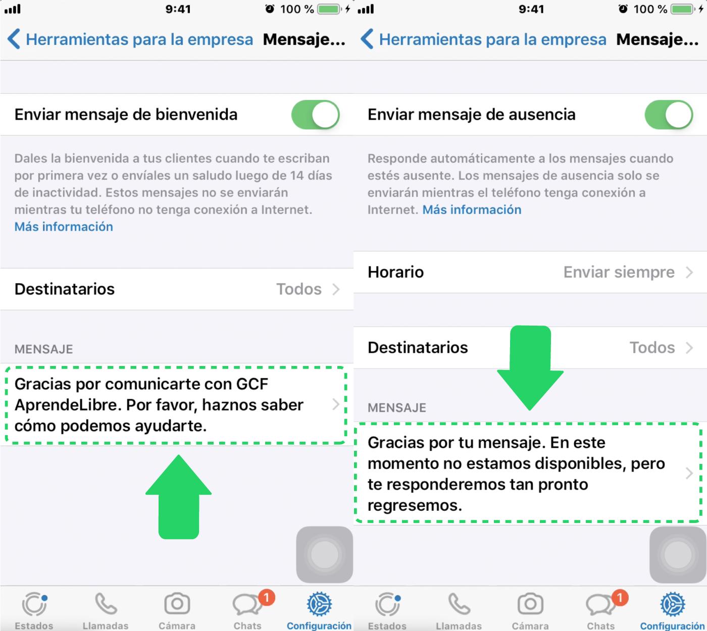 ¿Qué son los mensajes de ausencia y bienvenida en WhatsApp Business?