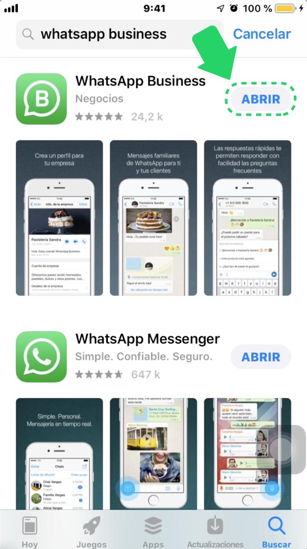 ¿Cómo abrir WhatsApp Business en iOS?