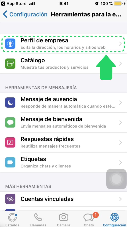 ¿Cómo cambiar mi perfil de empresa en WhatsApp Business?