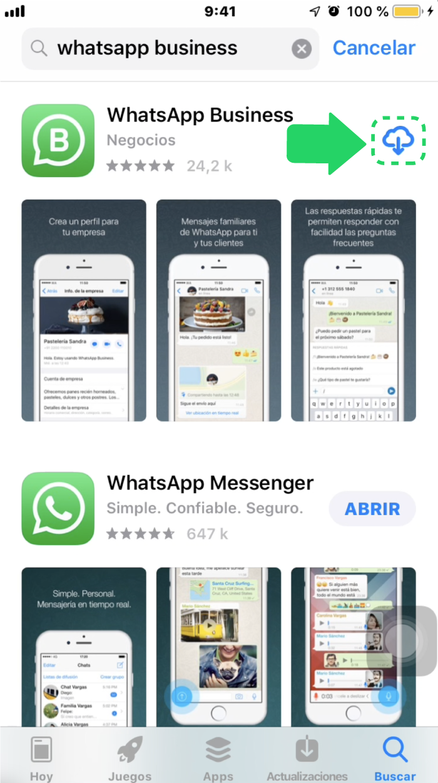 ¿Cómo descargar WhatsApp Business en iOS?