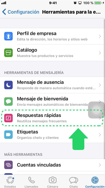 ¿Cómo configurar las respuestas rápidas en WhatsApp Business?