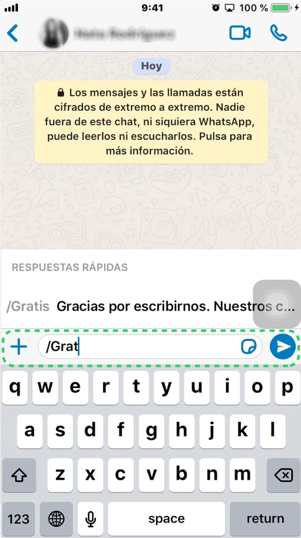 ¿Cómo funcionan las respuestas rápidas de WhatsApp Business?