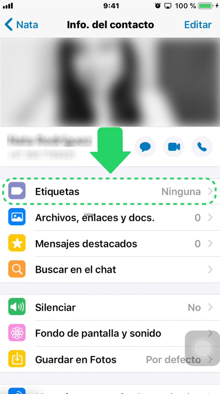 ¿Dónde encontrar las etiquetas de WhatsApp Business?