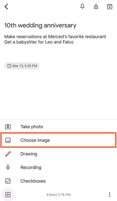 selecting Choose image
