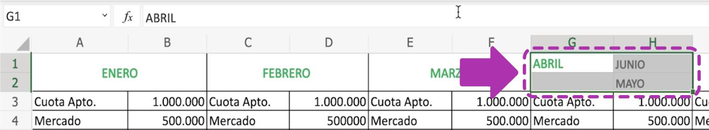 Cómo combinar celdas en Excel 365