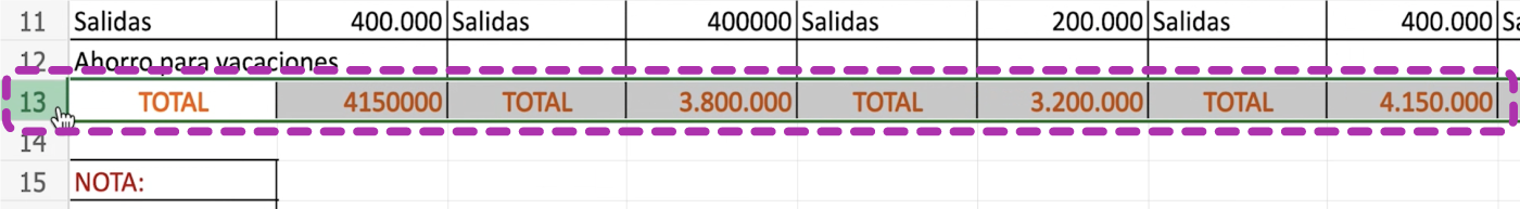 Cómo cambiar el tamaño de las filas en Excel 365