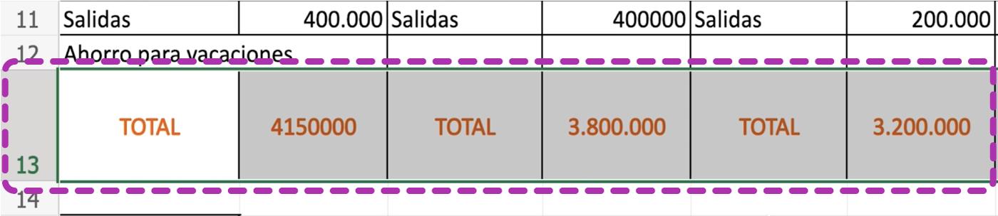 Cambia el tamaño de las filas y columnas en Excel 365