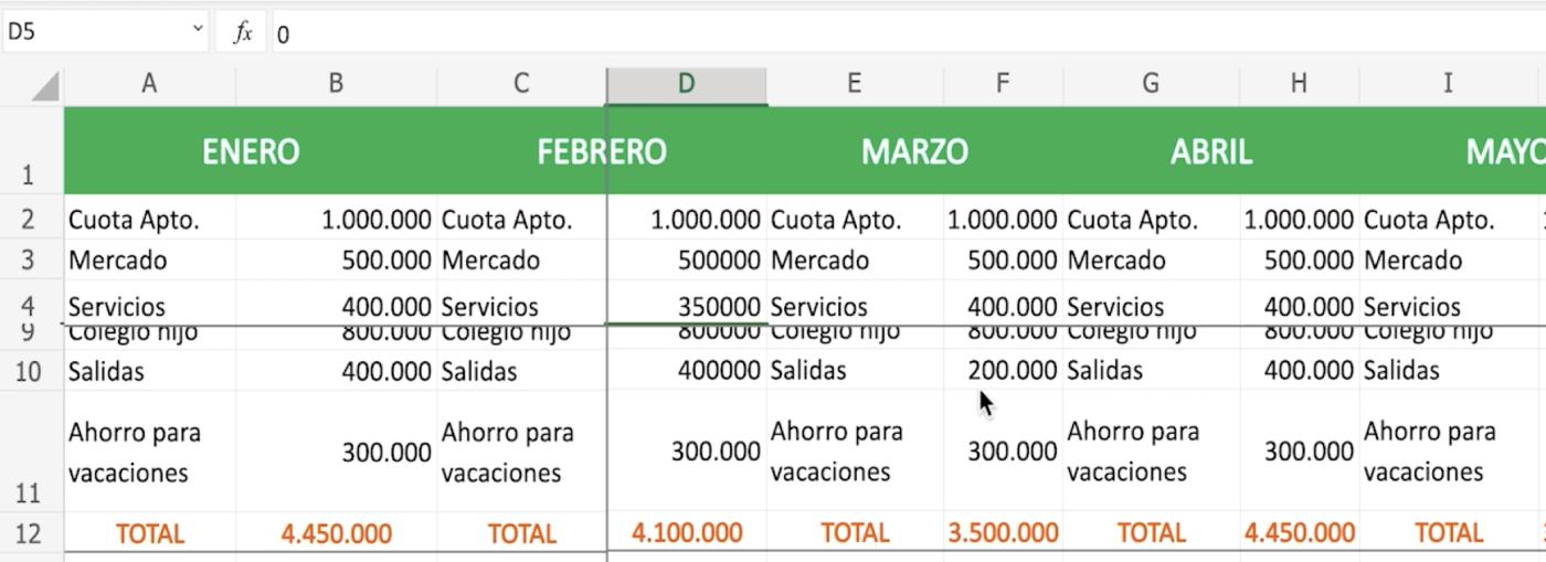 Aprende a bloquear filas y columnas en Excel 365