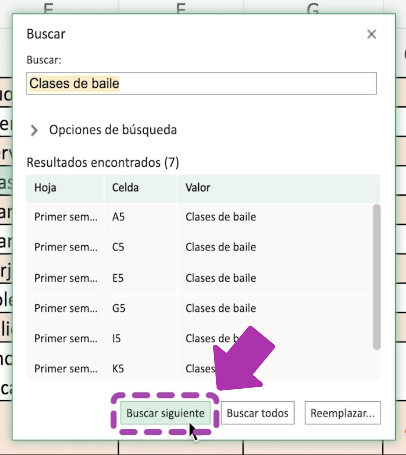 Cómo encontrar datos en Excel 365