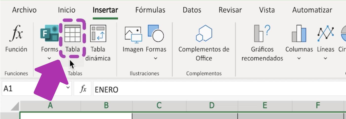 Para qué sirven las tablas de Excel 365