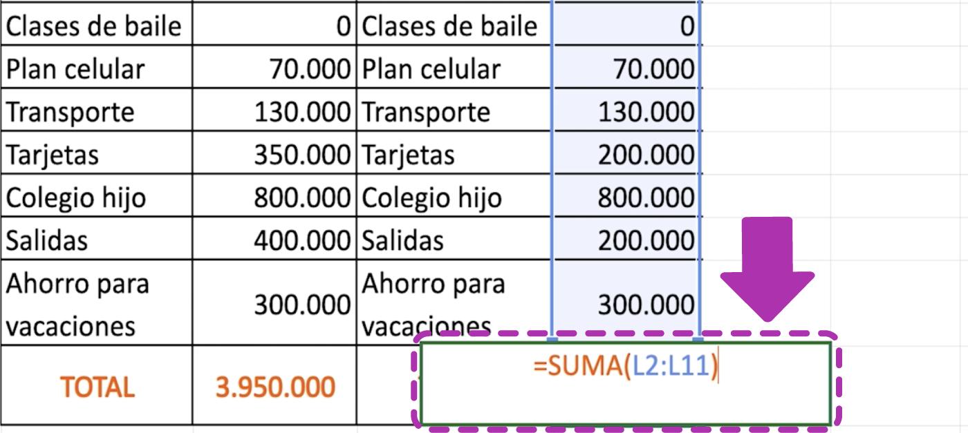 Cómo hacer operaciones sencillas en Excel 365
