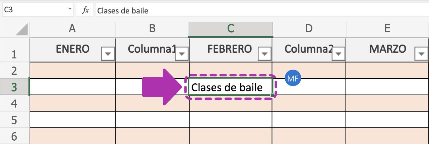 Cómo modificar las celdas de Excel 365