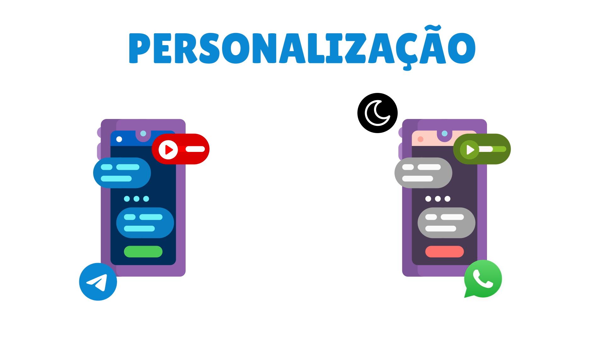 Whatsapp ou Telegram: diferenças na personalização dos chats