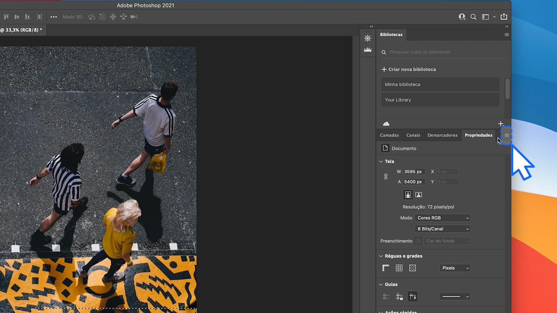 Como mover uma janela do Photoshop - parte 2