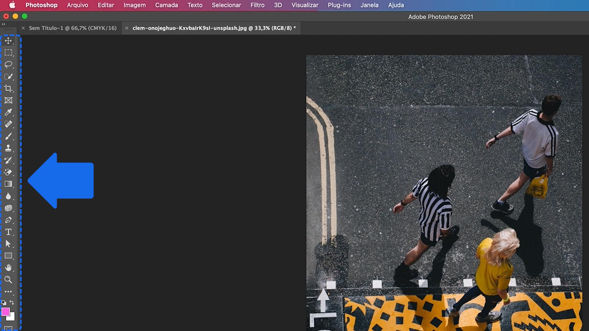 Como funciona o painel de ferramentas do Photoshop