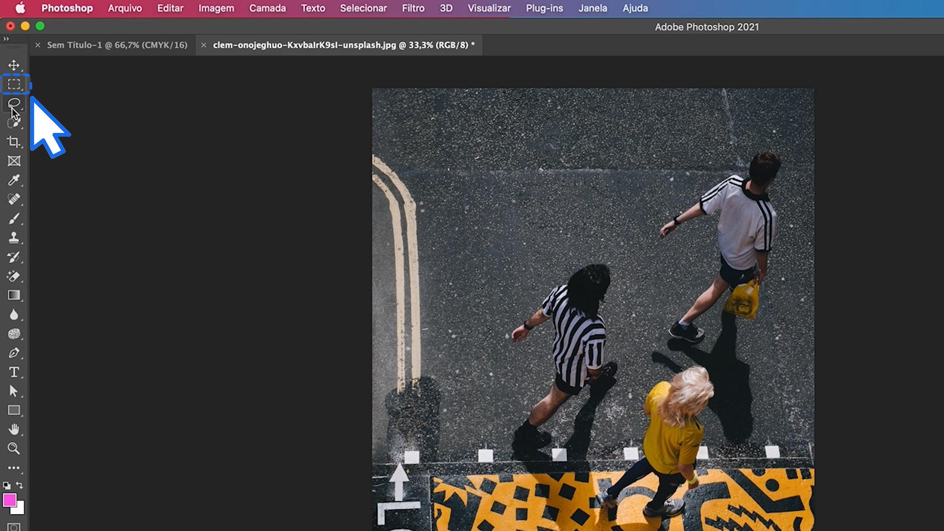 Como habilitar ferramentas que no aparecem no painel do Photoshop