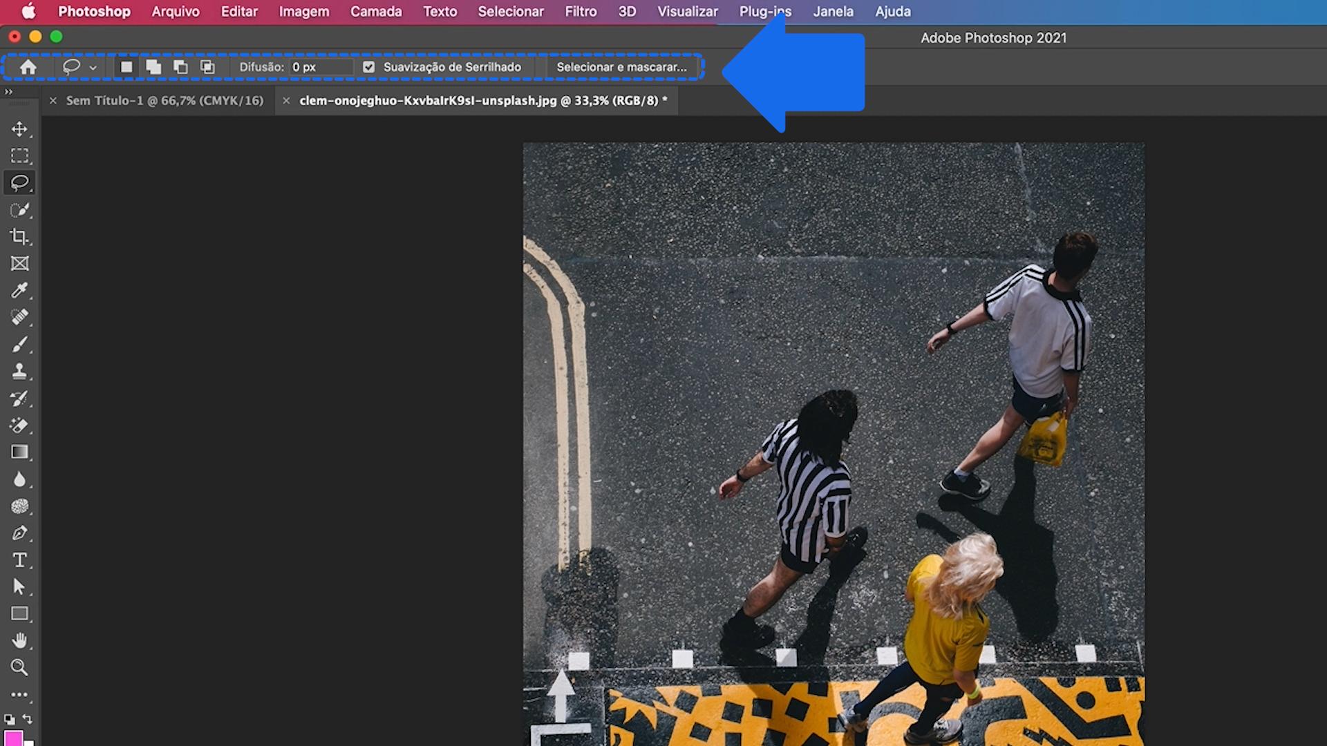 Como funciona a barra de opções do Photoshop