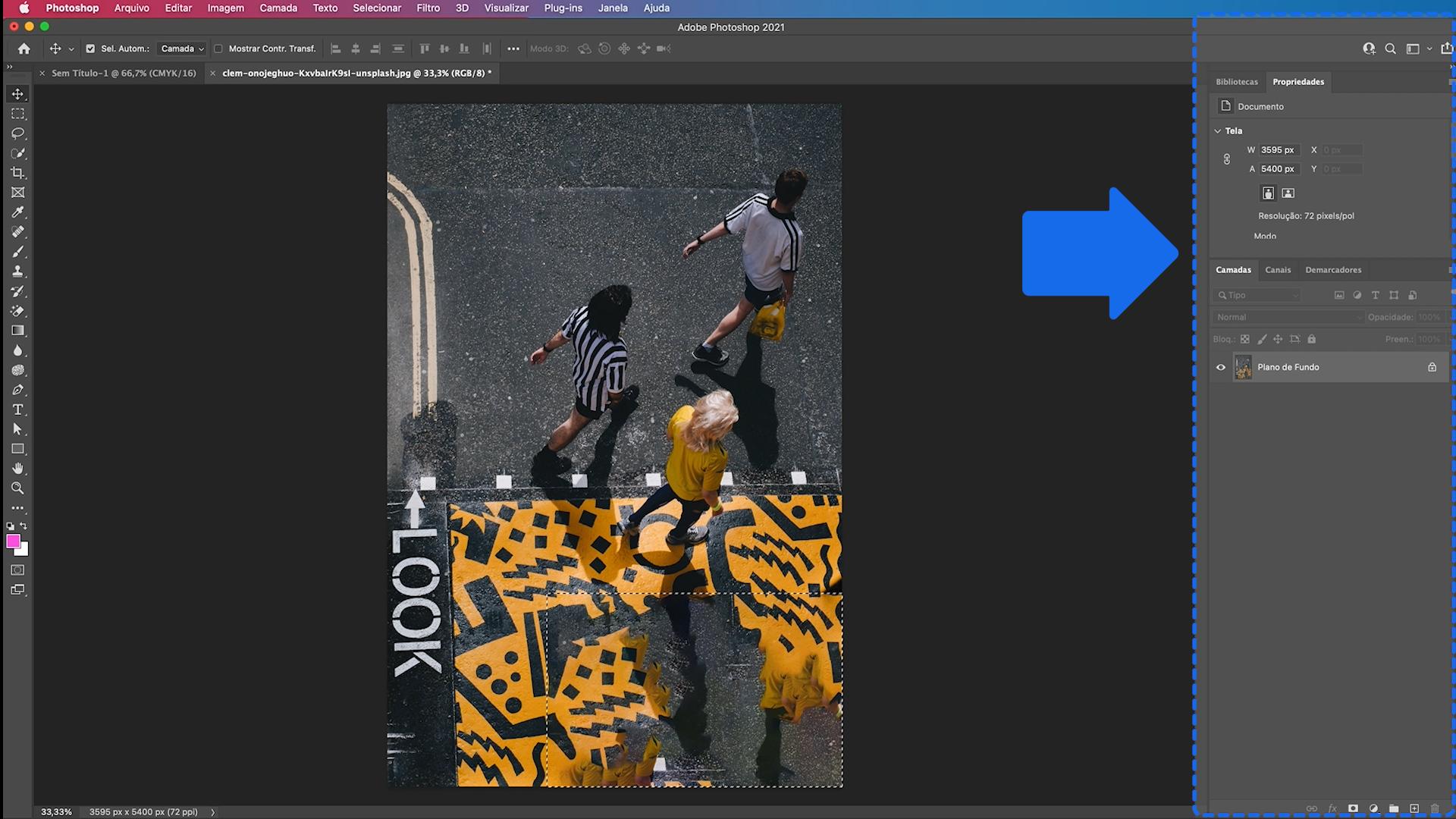 Para que serve a barra lateral direita do Photoshop