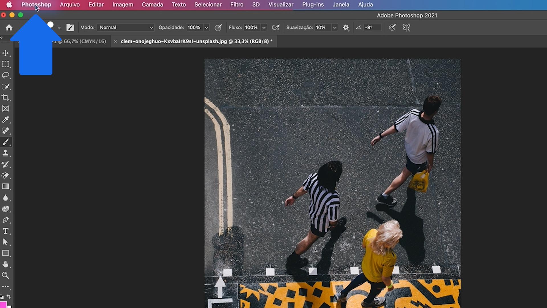 Como personalizar a área de trabalho do Photoshop 1