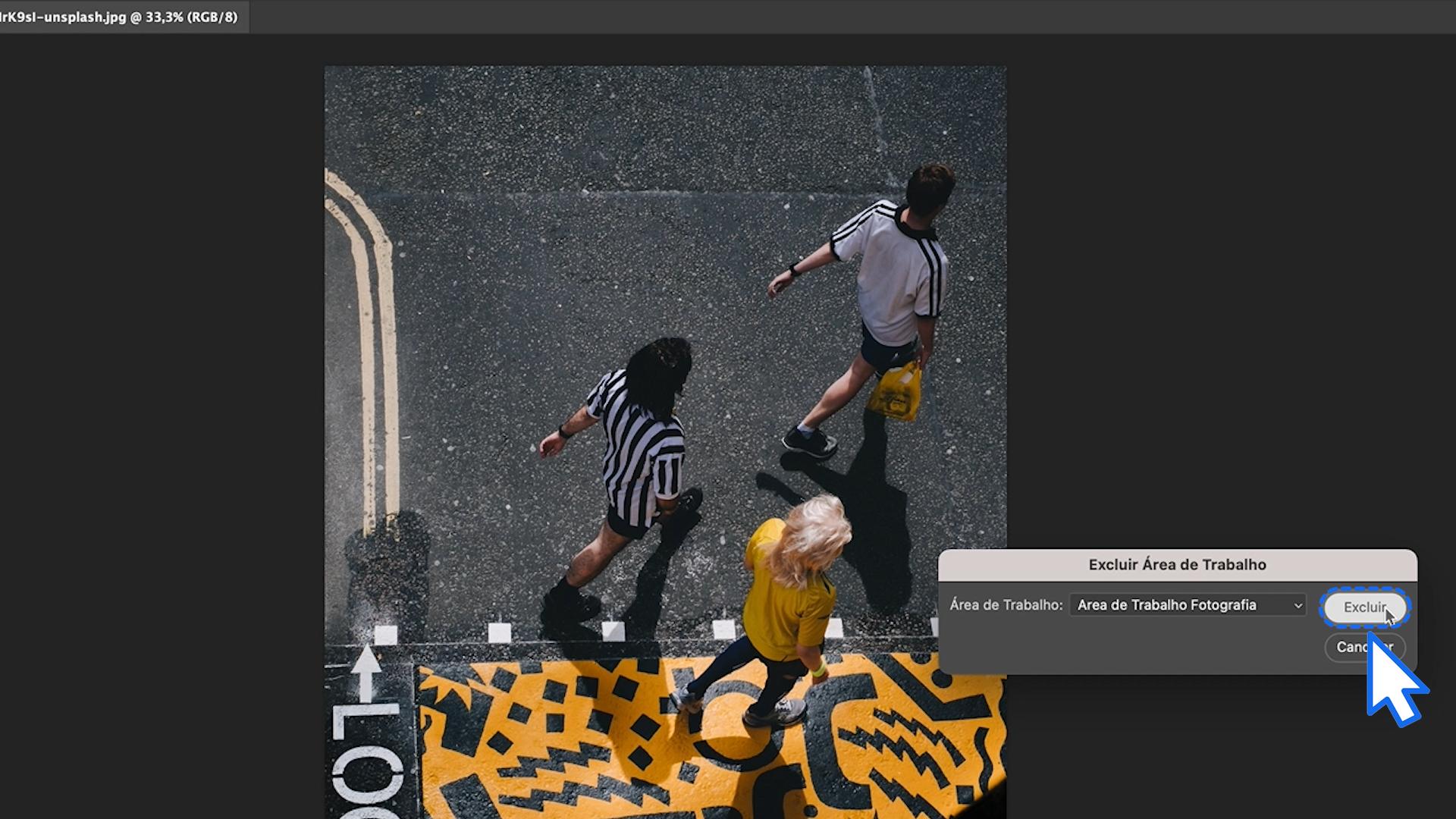 Como excluir uma área de trabalho do Photoshop 2
