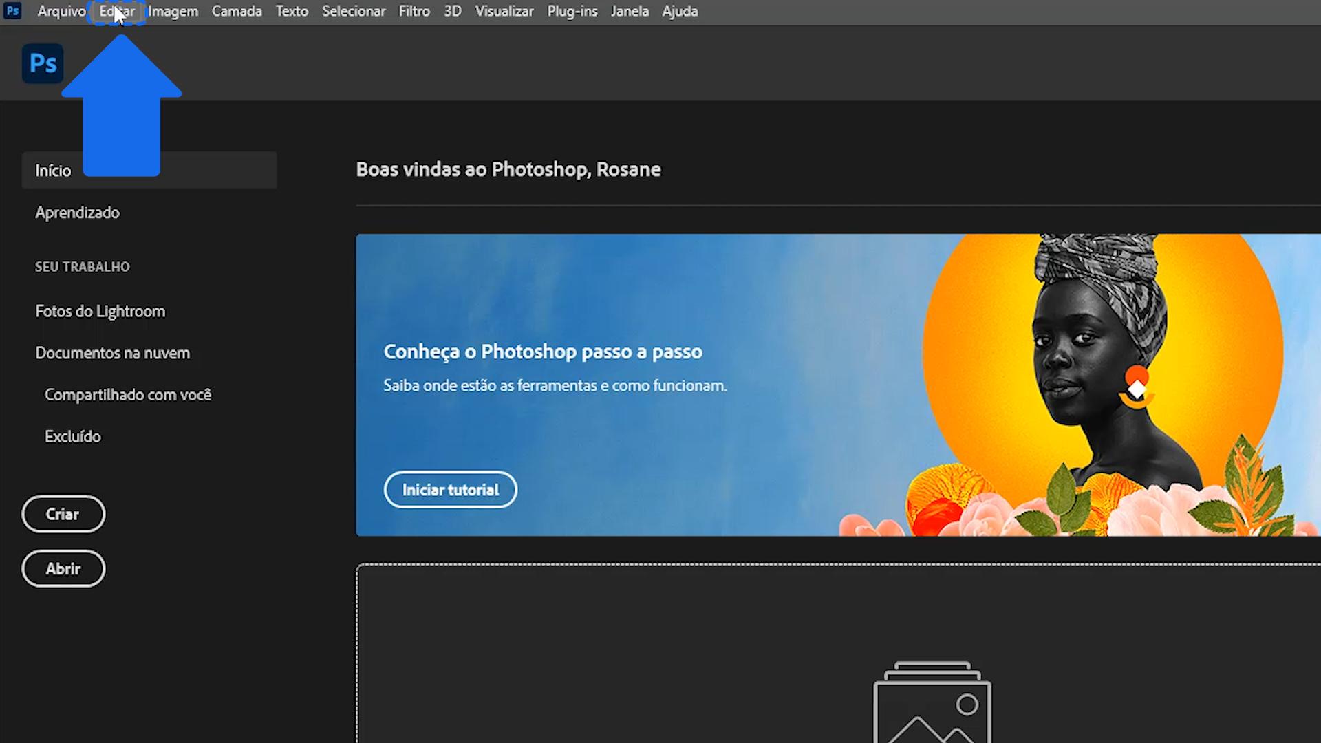 Como personalizar a área de trabalho do Photoshop no Windows